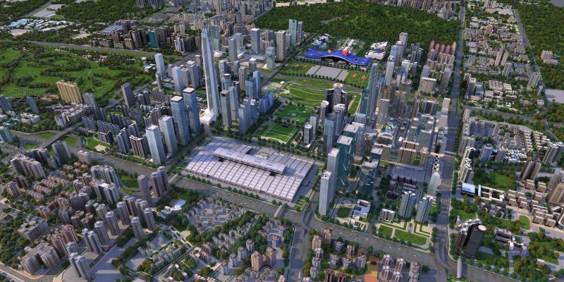 现代水泥城市 深圳鸟瞰