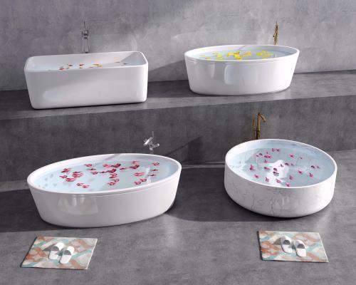 现代浴缸 陶瓷浴缸 圆形浴缸