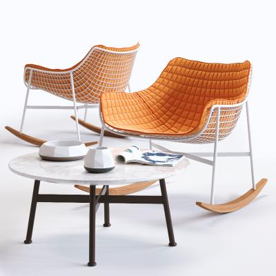 現代休閑躺椅 茶幾組合