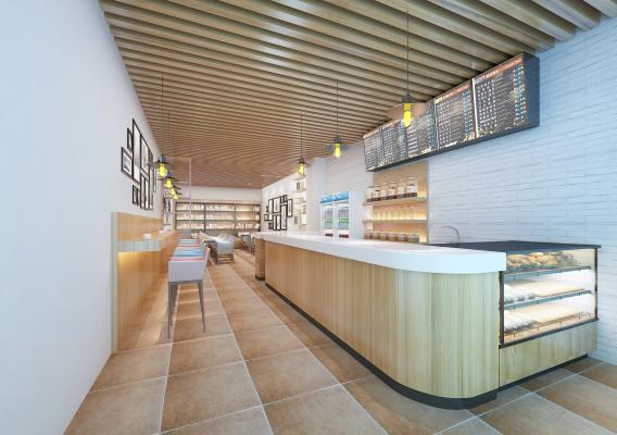 现代简约咖啡厅 奶茶店