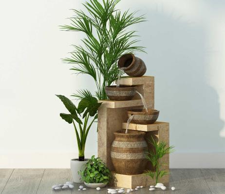东南亚景观盆栽 植物组合
