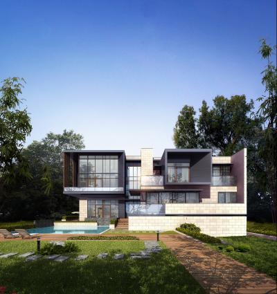 现代别墅建筑外观