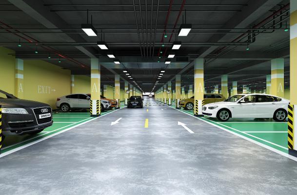 现代停车场 汽车 车库