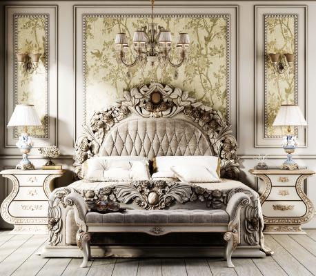 欧式双人床