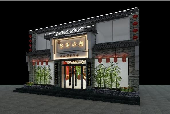 新中式餐厅门头