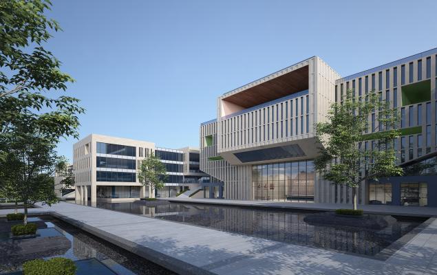 现代厂区办公楼