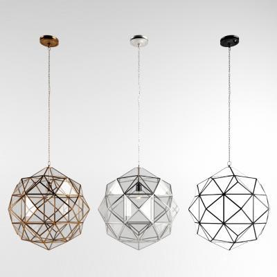 工业风格铁艺吊灯 吊灯 玻璃吊灯