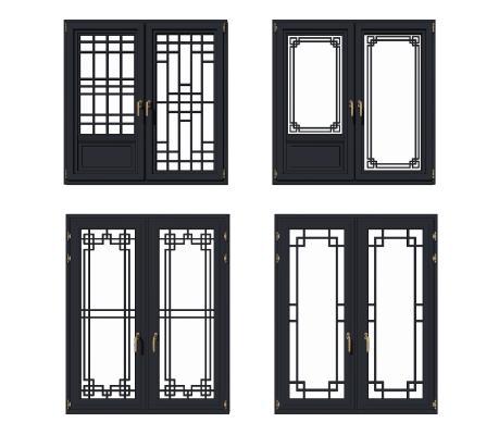 新中式窗组合