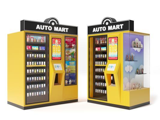 现代泡泡玛特机器人商店 自动贩卖机 售卖机