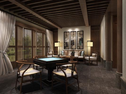 新中式棋牌室