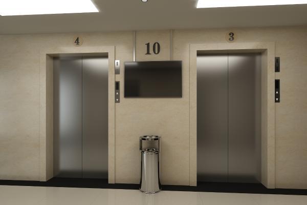 电梯口场景
