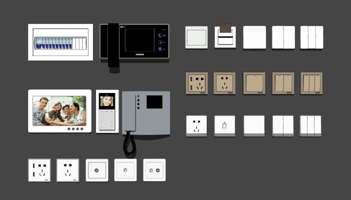 现代可视电话开关面板插卡取电