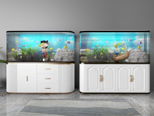 现代鱼缸组合