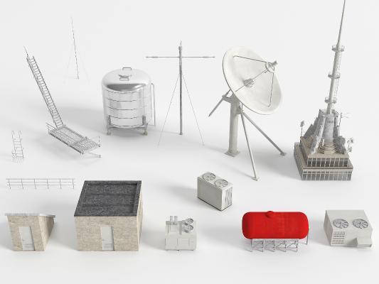 现代工业设备 信号塔 机房