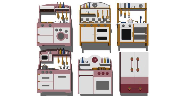 现代儿童过家家玩具 厨房玩具 卡通玩具