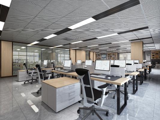 现代风格办公室 办公空间