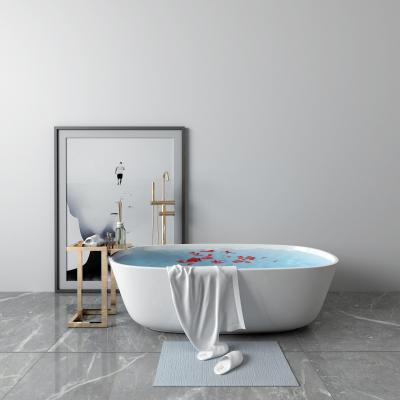 现代浴缸 毛巾