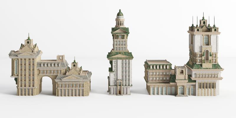 歐式古典別墅 城堡 配樓