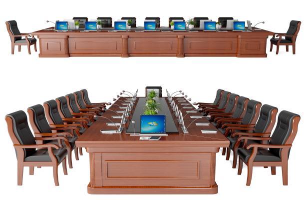现代会议桌椅 长条桌椅 洽谈桌椅