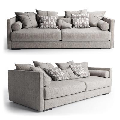 现代布艺双人沙发