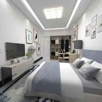 现代风格卧室 书房