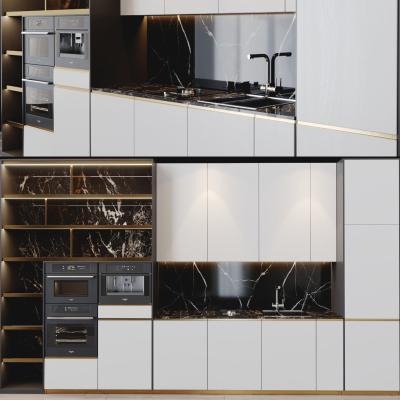 现代轻奢橱柜 墙柜 厨房电器