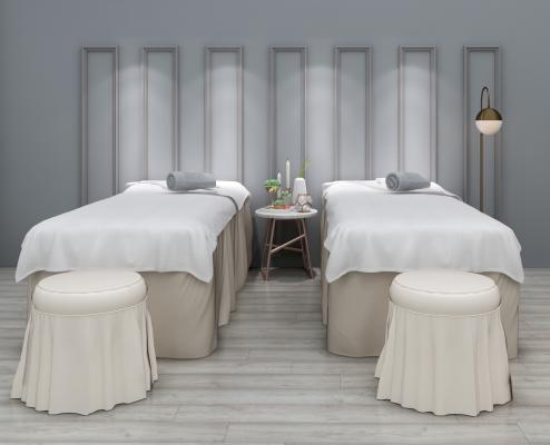 现代SPA美容床凳子组合