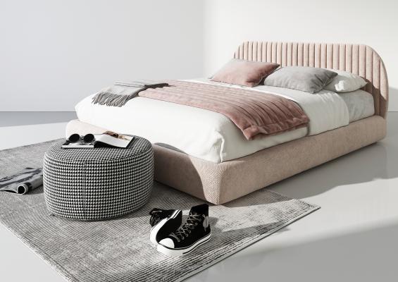 现代轻奢床