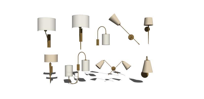 现代壁灯组合1