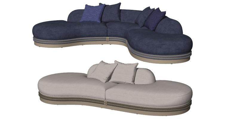 现代异形沙发 多人沙发 贵妃椅 卧榻