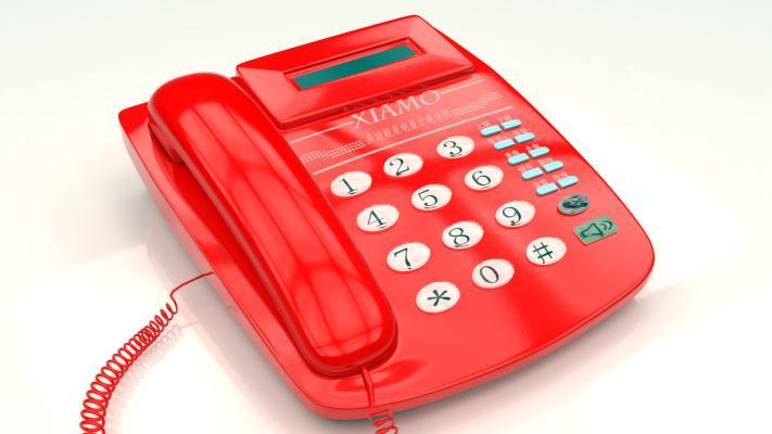 现代塑料电话机