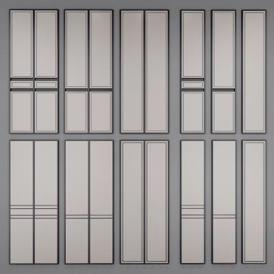 现代轻奢护墙板移门组合