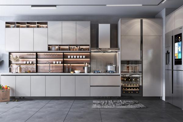 现代风格厨房 橱柜 电器 厨房用品