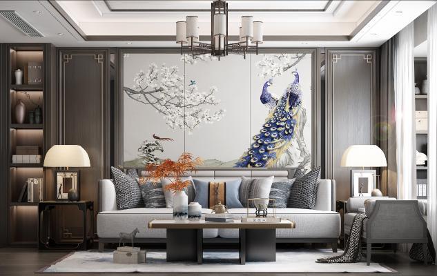 新中式客廳 沙發