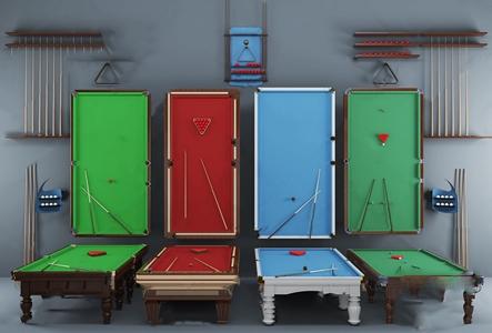 简欧台球桌组合 简欧体娱器材 台球桌 台球杆