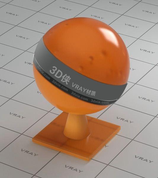 橙色半透明塑料Vray材质下载