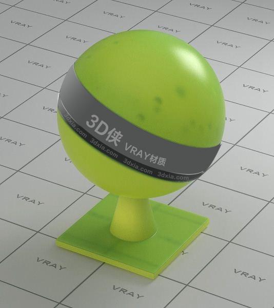 绿色半透明塑料Vray材质下载