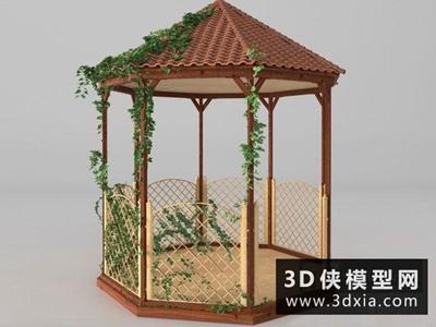 现代防腐木凉亭