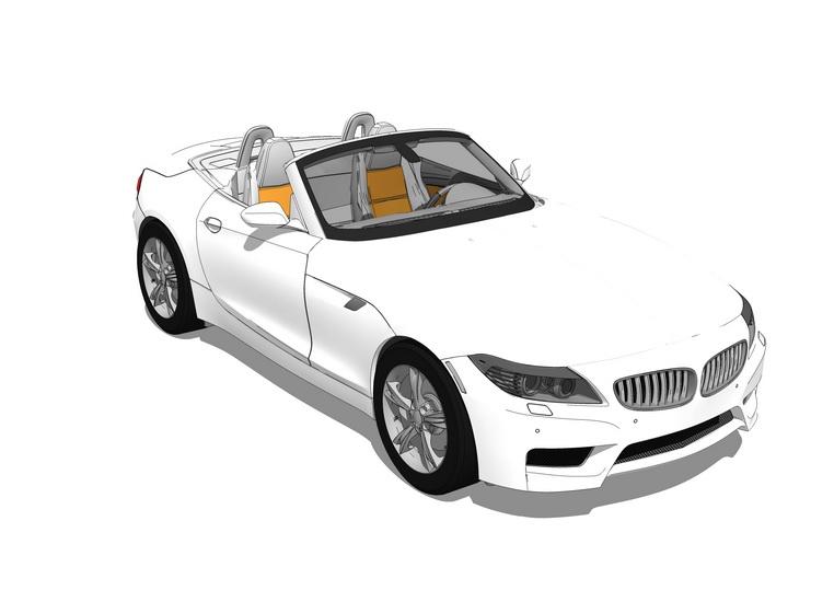 宝马跑车SU模型