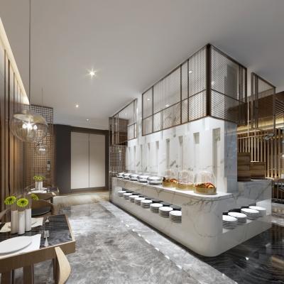 新中式自助餐厅3D模型