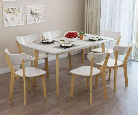 餐桌椅组合3D模型