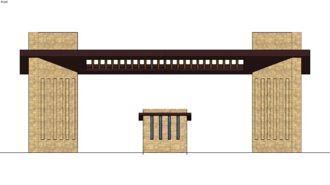 入口大门 指示牌 桌子 家具 室外 书桌