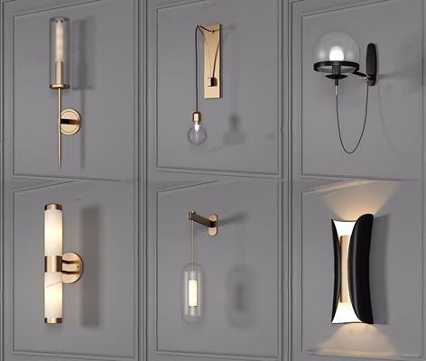 现代壁灯组合 现代壁灯 北欧壁灯 壁灯组合