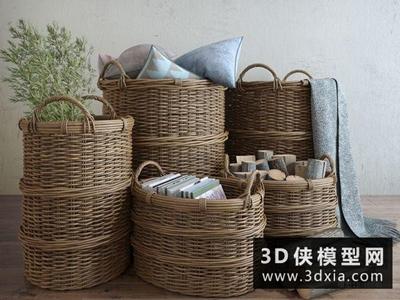 北欧竹篮装饰品
