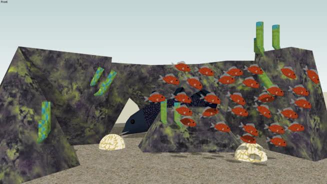 珊瑚礁 巨石 铲子 画 家居物品 悬崖