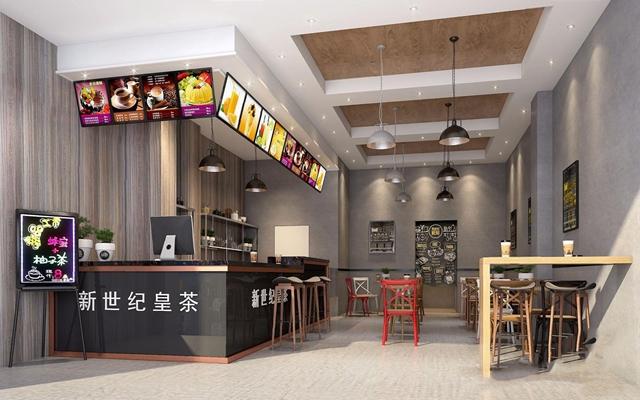 工业风奶茶店 工业风咖啡厅 收银台 吧台 吧椅 手写荧光板 桌子 单头吊灯 餐桌椅 饮品店