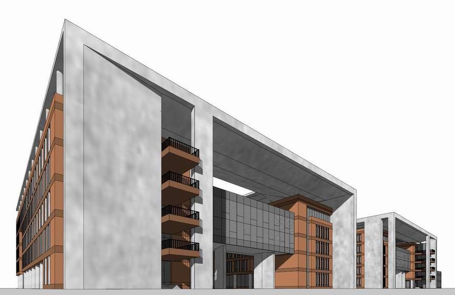 教学楼SU模型