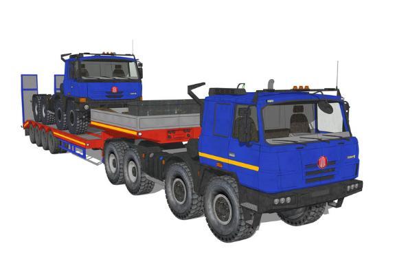 大货车SU模型