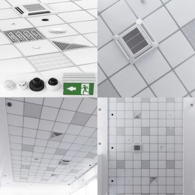 现代铝扣板空调出风口格栅灯3D模型