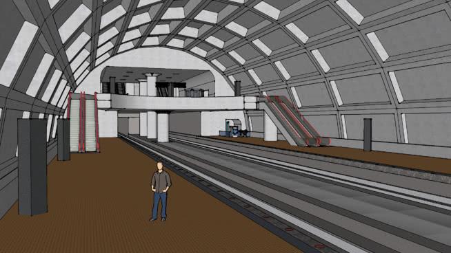 地铁站 车站 地铁 楼梯 楼梯扶手 室内